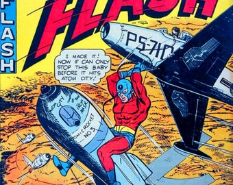 Captain Flash November 1954 issue #1 reproduction comic cover
