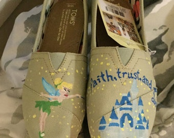 Tinkerbell inspired TOMS and off brand shoes