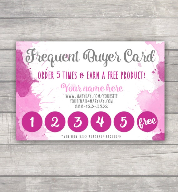Frequent Buyer Punch Card MaryKay LulaRoe Younique R&F
