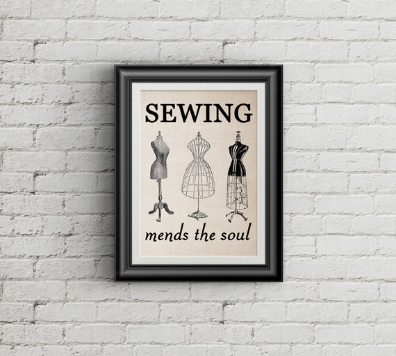 Sewing Mends the Soul wall art