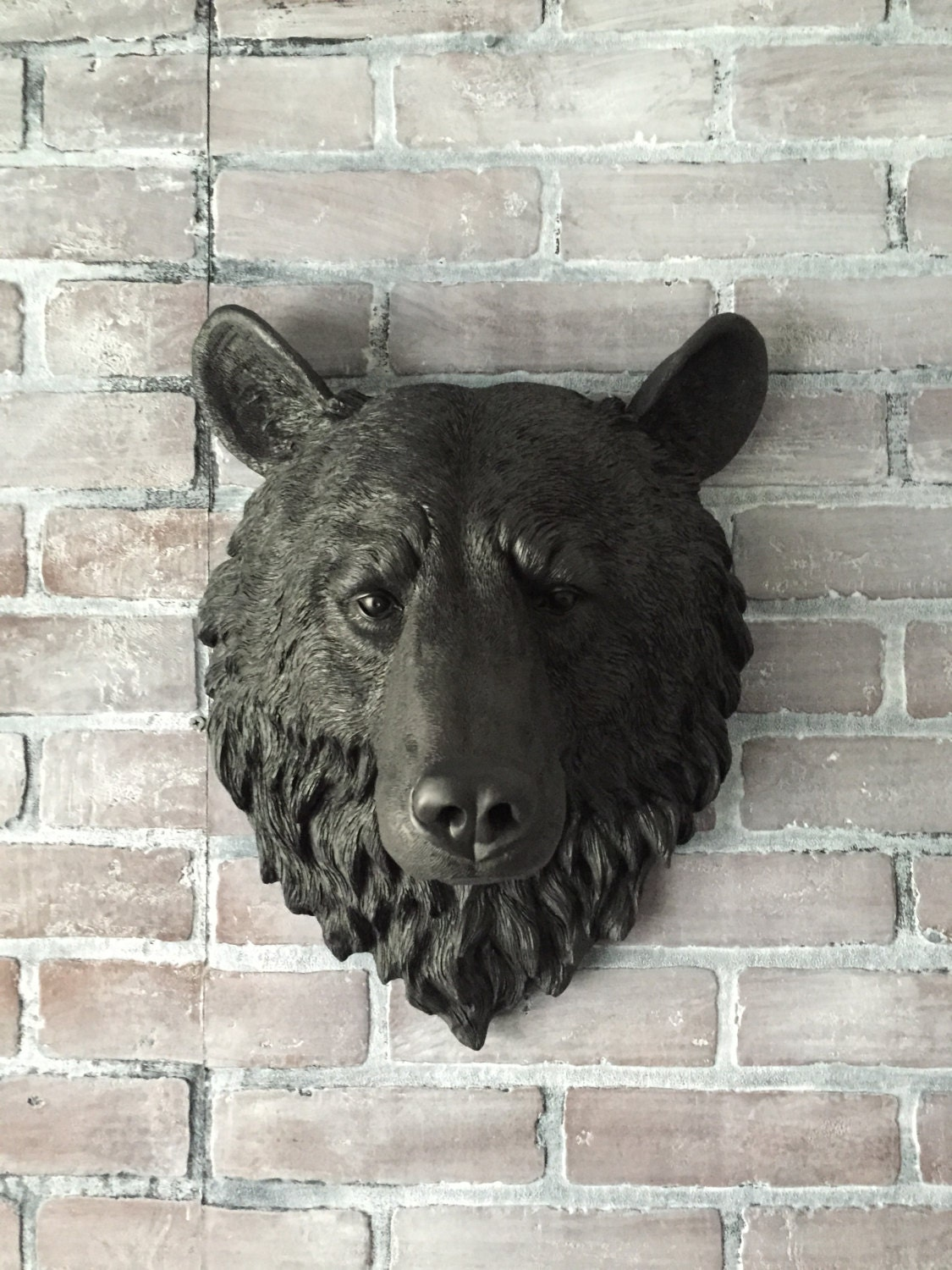 Any color or faux black bear head wall mount faux taxidermy zoom amipublicfo Choice Image