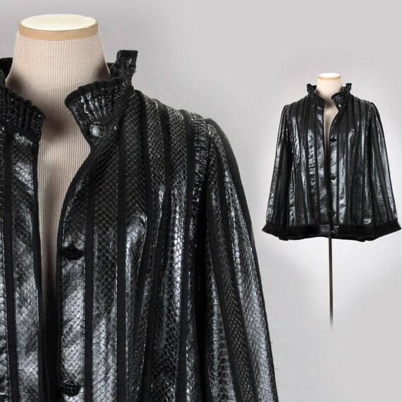Giacca in pelle di serpente reale m anni 39 70 giacca m for Serpente nero italiano