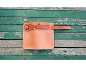Bifold Leather Wallet / Mens Leather Wallet / Natural Vegetable Tanned Leather /Personalized Wallet / Biker Wallet / Handstitched