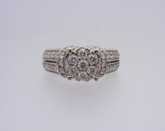 2.00 Carat T.W. Round Cut Diamond Engagement Ring 14K White Gold