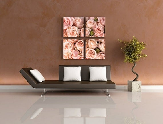 Peaceful Bedrooms Hung With Rosies Paintings : Peaceful Bedrooms Hung With Rosies Paintings : ... Painting Art Framed ...
