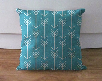 One Decorative Pillow Cover - Teal Pillow Cover - Custom Throw Pillow Cushion Cover Accent Pillow - Teal Couch Pillow - Teal Throw Pillow