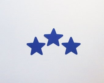 """Blue Star Die Cuts - 1-3"""" Inch Choose Your Color/Colors Diecuts Scrapbooking Weather Night Sky Fourth of July Craft Cards Decoration Cute"""