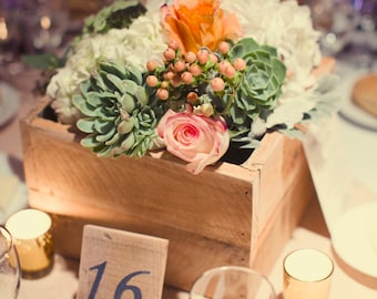Wooden Centerpiece Boxes