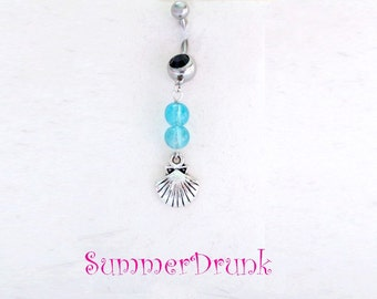 Sea shell belly button ring , Navel ring, Belly button Jewelry, Belly button piercing,Boho belly button rings