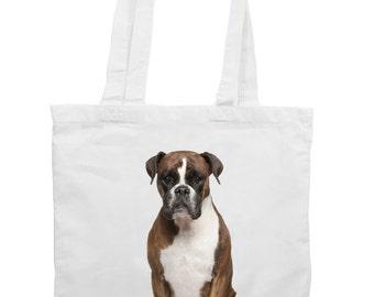 Boxer Dog Tote Shopping Bag