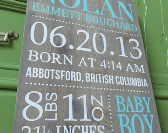 Baby Stat Sign Baby Shower Gift