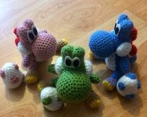 Yoshi Crochet Toy and Egg