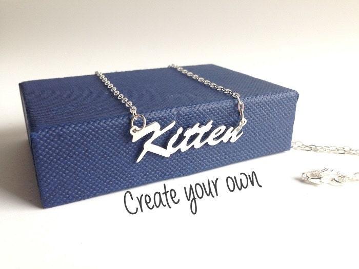 bdsm sterling silver name necklace bracelet anklet collar