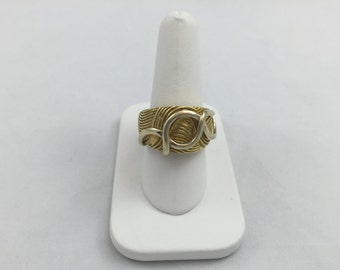 "Ladies 18 KT Yellow Gold ""LINK"" Ring"