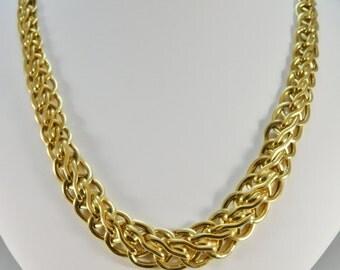 Ladies 14kt Yellow Gold Italian Designer Necklace