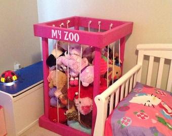 stuffed animal storage - stuffed animal zoo - stuffed animals - toy storage - kids room decor - toy organization - TOY BOX - my zoo