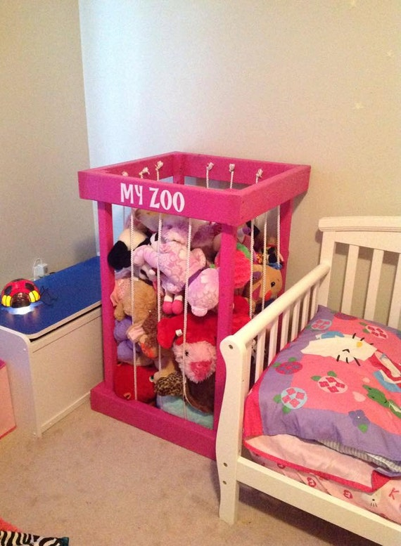 ... toy storage - kids room decor - toy organization - TOY BOX - my zoo
