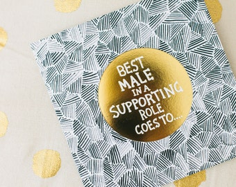 Best Male in a Supporting Role Card