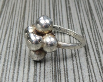 Vintage Sterling Silver Ring Mexico Sterling Silver Ball Ring Dome Ring Vintage Silver Ring Vintage Sterling Ring Size 7 FREE SHIPPING