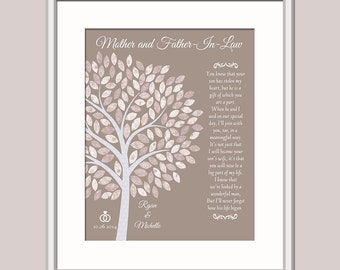 Gift For Grooms Parents - Parents In Law Wedding Gift - Grooms Parents Gift - Father In Law Gift - Mother In Law Gift - Thank You Wedding