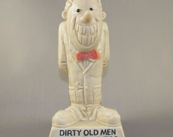 Vintage Collectors 1970 Dirty Old Men Need Love Too Resin Statue by Wallace & Russ Berrie