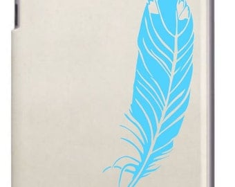 Feather tablet decal