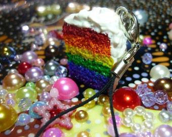 Rainbow Cake Cell Charm