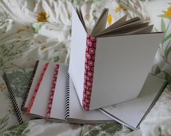 Handmade sketchbooks mixed papers hand bound cute journal A5 notebook crafts school book