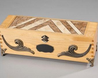 Groomsmen gift box, Best man gift box, Wedding wine ceremony, Mens accessory box, Custom wood box, Keepsake box, Wedding gift box, Wood Box