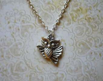 Little Owl Necklace Woodland Jewerly
