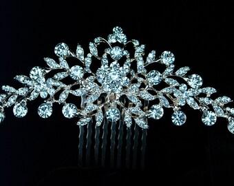 Rose Gold Crystal Hair Comb, Bridal Hair Comb, Rose Gold Wedding Hair Comb, Rose Gold Bridal Headpiece, Rose Gold Hair Comb
