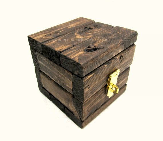 Small wooden gift box handmade rustic mini by - Small rustic wooden boxes ...