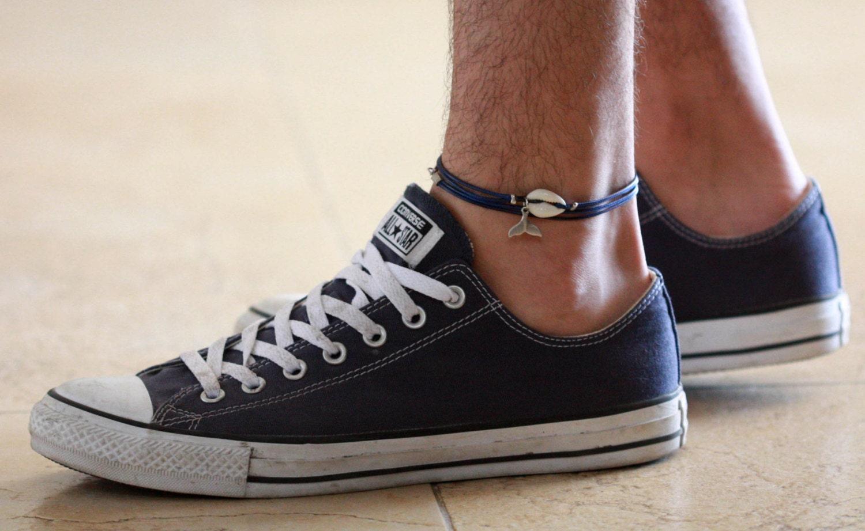 Men's Anklet Men's Ankle Bracelet Anklet For Men. Elizabeth Locke Pendant. Pendant Necklace. Stone Bangles. Pink Pearl Pendant