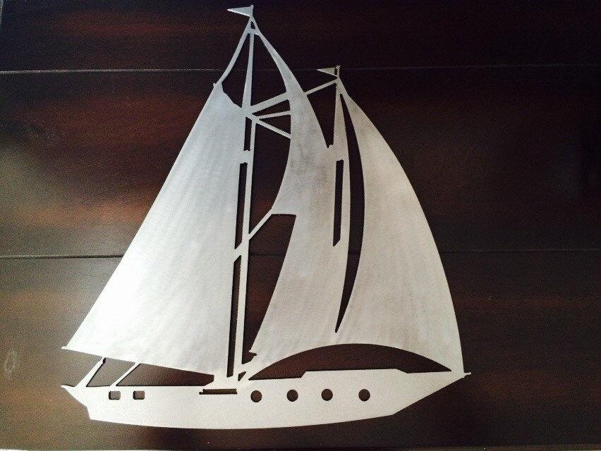 Metal Sailboat Silhouette Wall Hanging 15 X 17