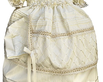 Vintage Christening gown for girl (baptism dress G001)