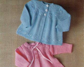 0238f670b13c Vintage Baby matinee coat knitting pattern PDF download matinee ...