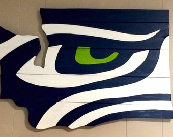 Seattle Seahawks Inspired Wall Sign