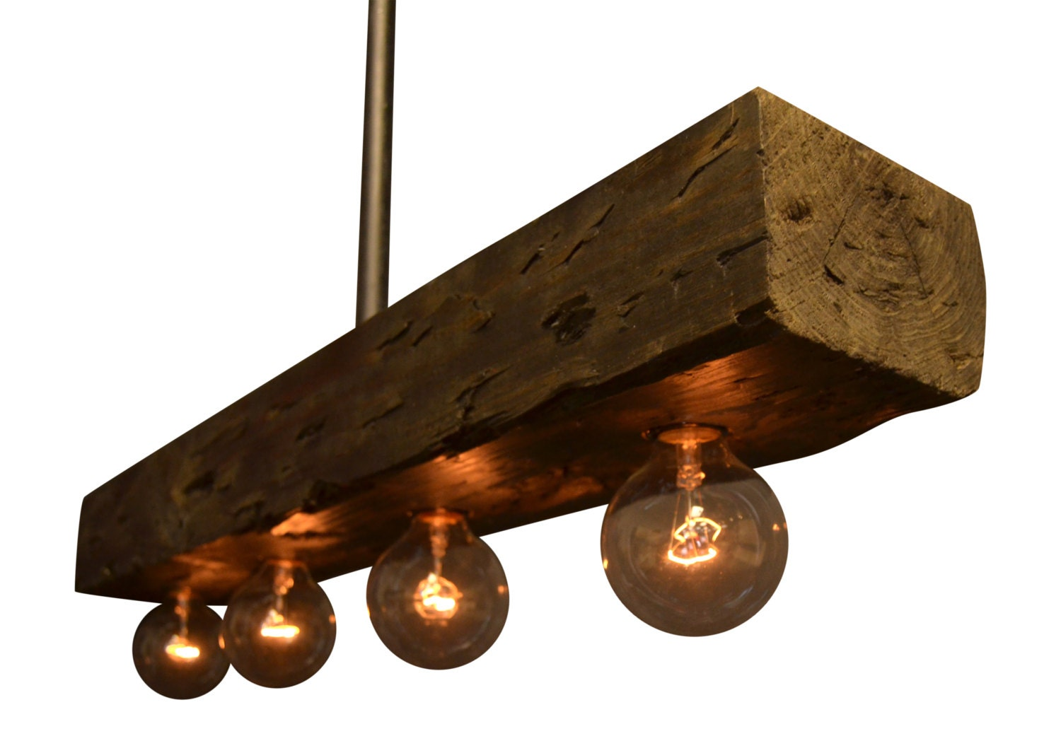 Reclaimed Wood Chandelier Light Fixture By UnionHilIronWorks