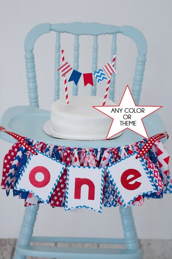 Red White And Blue Fourth Of July High Chair By Sweetorangefox