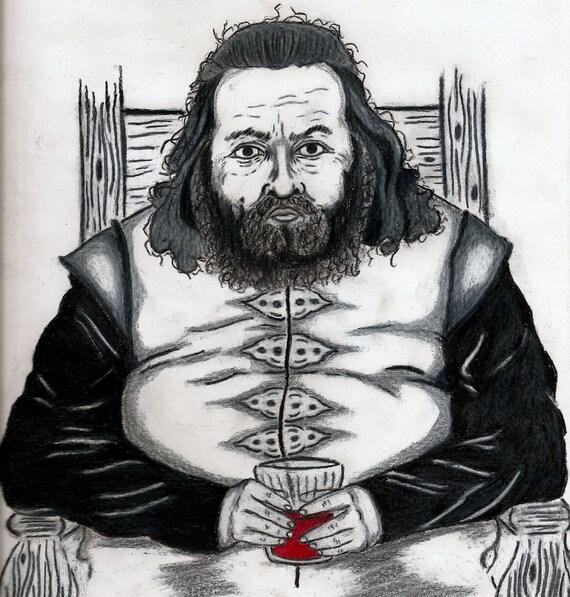 Robert Baratheon: Robert Baratheon Game Of Thrones Print King Lannister