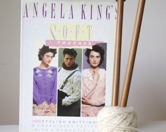Vintage 1980s Angela King knitting pattern book/ women men children knitting patterns/ vintage craft supply