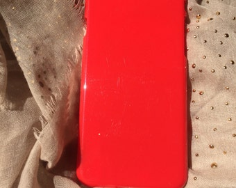 DIY Red Hard Plastic for iphone 6 case. For Bling deco phone and Decoden. Red plastic Casing