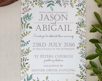 Woodland Walk Wedding Invitation A5