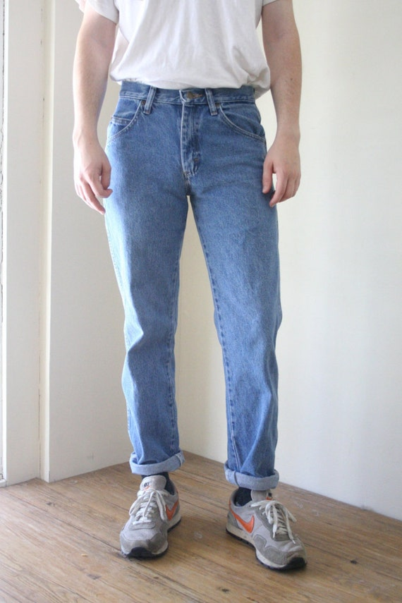 Reduced 80s Men S Blue Jeans Wranglers By Downhousevintage On Etsy