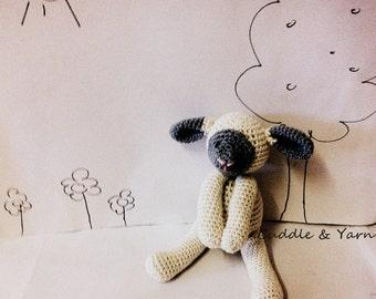 Crochet Baby Lamb, Newborn Baby Toy, Easter Newborn, Baby Shower Gift, Welcome Home  Amigurumi Sheep, Grey Cream Baby, Newborn Photo Prop.