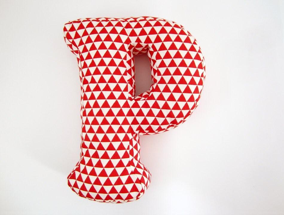 Letter P Throw Pillow : Alphabet Pillow Letter P Alphabet Pillows Initials Letter