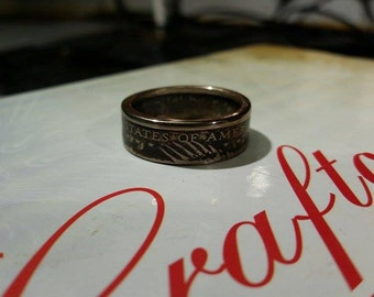 Handcrafted Genuine Sacagawea U.S. Dollar Coin Ring