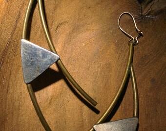 Vintage Triangular Earrings -  Dangling Earings