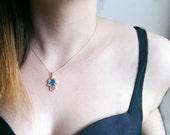 Hamsa Necklace Hand of Fatima Jewelry Gold Filled Necklace, Necklace, Gold necklace, Gold tone Necklace