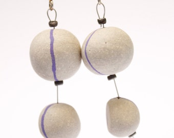 Stoneware earrings